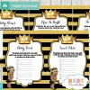 black gold african american prince themed games to play at a baby shower