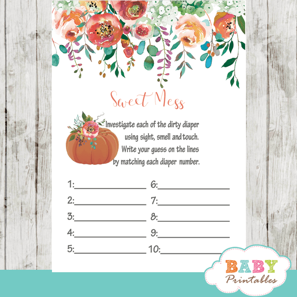 fall arrangement floral baby shower games sweet mess