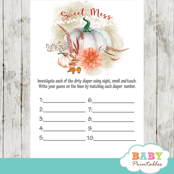 little pumpkin baby shower games fall arrangement