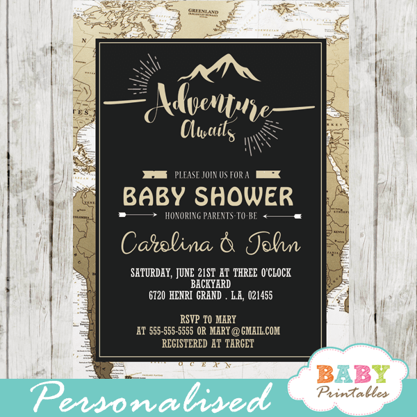 Adventure awaits baby printables world travel adventure awaits baby shower invitations d372 filmwisefo