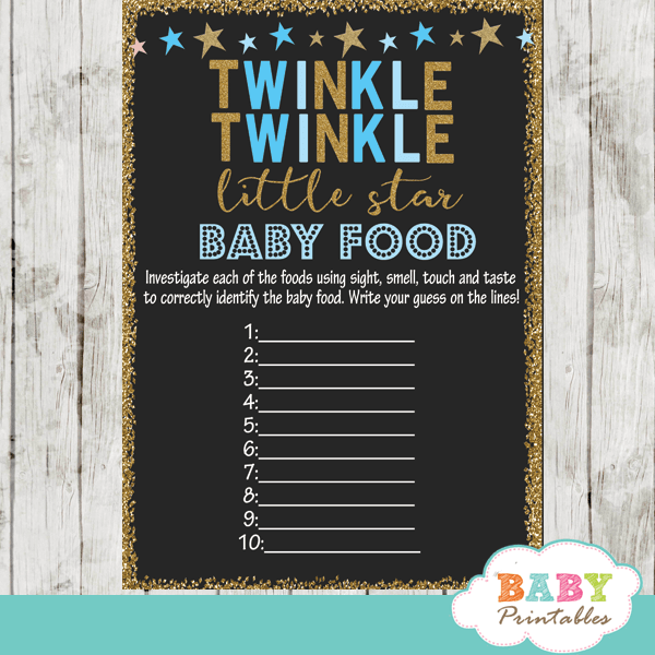 twinkle twinkle little star baby shower games decorations theme blue boy