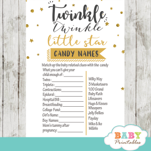 twinkle twinkle little star baby shower games decorations theme gender neutral yellow gold