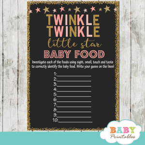 twinkle twinkle little star baby shower games baby food decorations theme pink girl