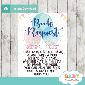 gender neutral ready to pop baby shower book request cards