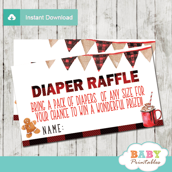 winter wonderland diaper raffle tickets baby it's cold outside baby shower boy holiday christmas