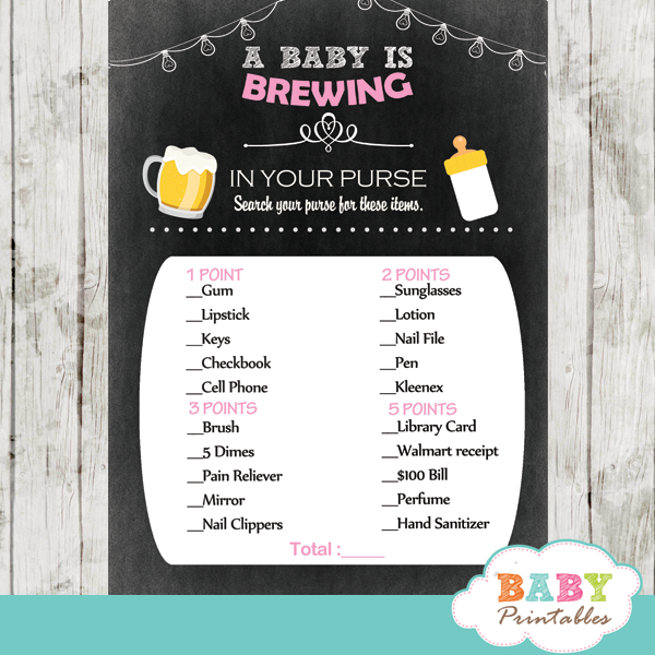 babyq coed beer bbq baby shower games pink girl