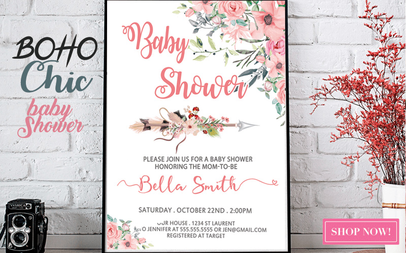 tribal arrow baby shower boho chic