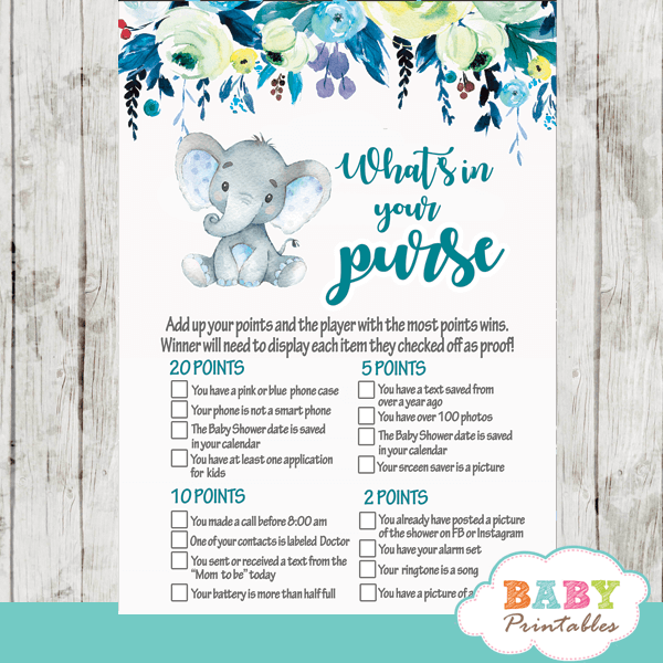 elephant baby shower games - Baby Printables
