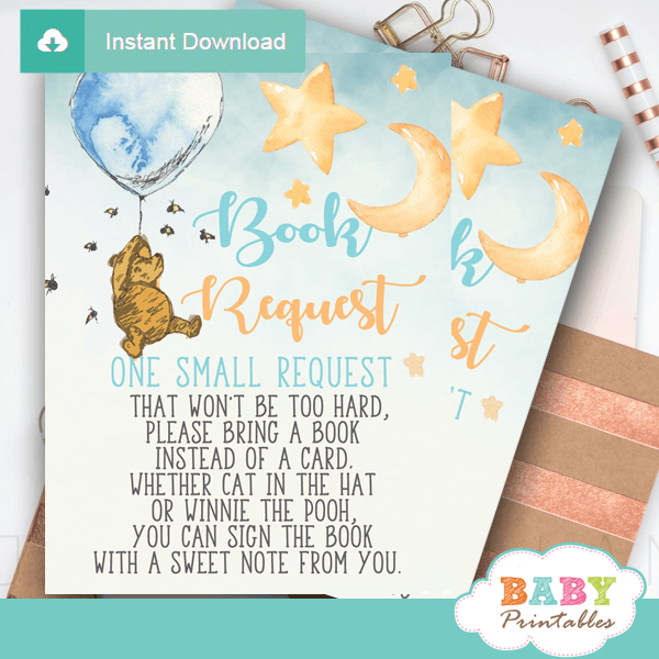 image relating to Printable Winnie the Pooh Baby Shower Invitations known as Winnie The Pooh E book Talk to Playing cards D290