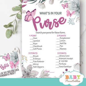 succulent plants butterflies baby shower games pink and gray girl ideas