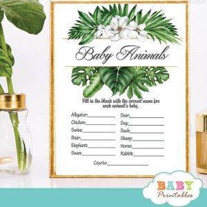 magnolia flowers greenery baby shower games tropical foliage ideas theme