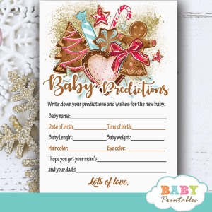 girl gingerbread cookies christmas baby shower games winter wonderland