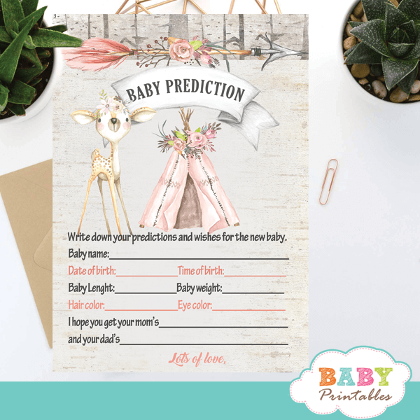 rustic woodland deer baby shower games girl ideas fun
