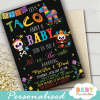 fiesta gender reveal invitations taco about a baby sugar skulls