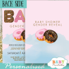he or she donut gender reveal invitations boy or girl pink or blue ideas