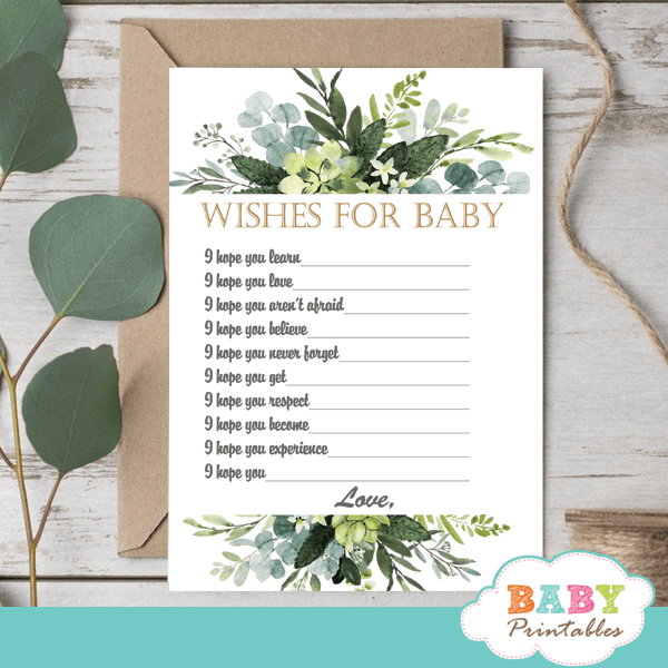 eucalyptus greenery baby shower games wishes for baby
