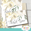 ivory white peony baby shower thank you cards gender neutral