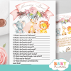 blush pink safari baby shower games who knows mommy best jungle animals