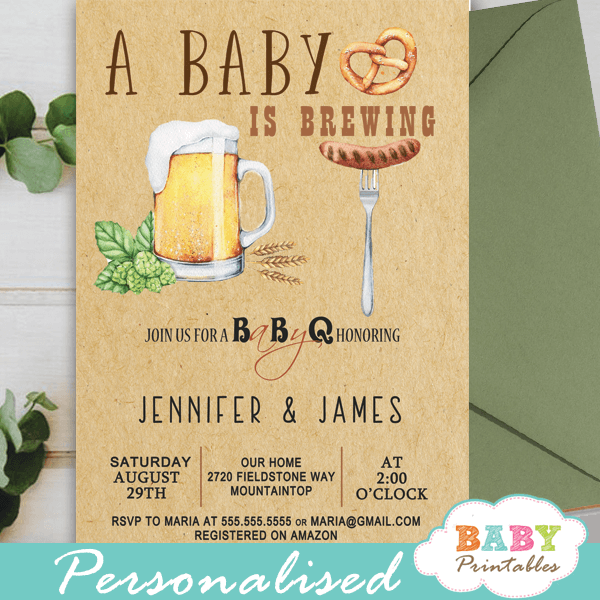 backyard bbq baby shower invitations gender neutral