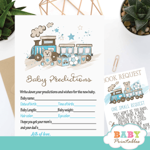 blue teddy bear baby shower games boy theme