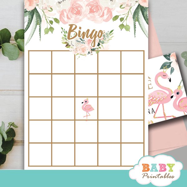 floral ivory blush pink flamingo baby shower games girl theme