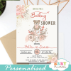 pink teddy bear baby shower invites girl theme