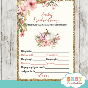 fall in love baby shower games floral blush pink pumpkin