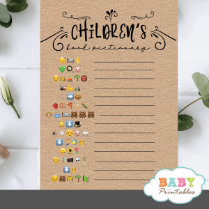Kraft Paper Rustic Childrens Books Emoji Pictionary
