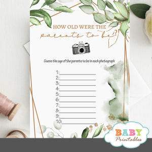 How Old Were the Parents-to-Be Baby Shower Game age guessing