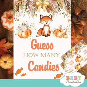 guess how many candies baby shower game
