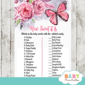 how sweet it is baby shower game
